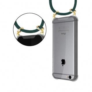 Cadorabo Handy Kette für Apple iPhone 6 PLUS / iPhone 6S PLUS in ARMEE GRÜN - Silikon Necklace Umhänge Hülle mit Gold Ringen, Kordel Band Schnur und abnehmbarem Etui ? Schutzhülle - Vorschau 5
