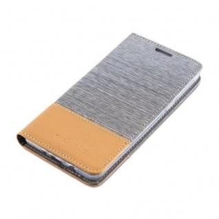Cadorabo Hülle für Samsung Galaxy J5 2016 in HELL GRAU BRAUN - Handyhülle mit Magnetverschluss, Standfunktion und Kartenfach - Case Cover Schutzhülle Etui Tasche Book Klapp Style - Vorschau 3