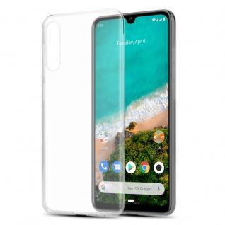 Cadorabo Hülle für Xiaomi Mi A3 in VOLL TRANSPARENT - Handyhülle aus flexiblem TPU Silikon - Silikonhülle Schutzhülle Ultra Slim Soft Back Cover Case Bumper
