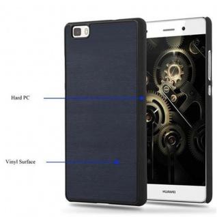 Cadorabo Hülle für Huawei P8 LITE 2015 in WOODY BLAU ? Hardcase Handyhülle aus Plastik gegen Kratzer und Stöße ? Schutzhülle Bumper Ultra Slim Back Case Hard Cover - Vorschau 4