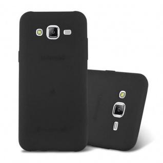 Cadorabo Hülle für Samsung Galaxy J5 2015 in FROST SCHWARZ - Handyhülle aus flexiblem TPU Silikon - Silikonhülle Schutzhülle Ultra Slim Soft Back Cover Case Bumper