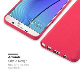 Cadorabo Hülle für Samsung Galaxy NOTE 5 in FROST ROT - Handyhülle aus flexiblem TPU Silikon - Silikonhülle Schutzhülle Ultra Slim Soft Back Cover Case Bumper - Vorschau 2