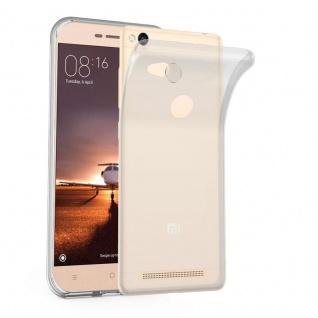 Cadorabo Hülle für Xiaomi Red Mi 3S in VOLL TRANSPARENT - Handyhülle aus flexiblem TPU Silikon - Silikonhülle Schutzhülle Ultra Slim Soft Back Cover Case Bumper
