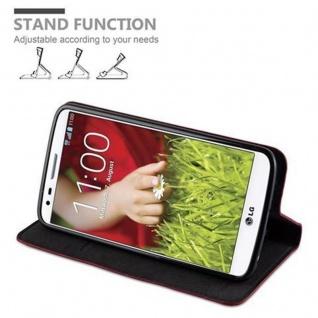Cadorabo Hülle für LG G2 in APFEL ROT Handyhülle mit Magnetverschluss, Standfunktion und Kartenfach Case Cover Schutzhülle Etui Tasche Book Klapp Style - Vorschau 4