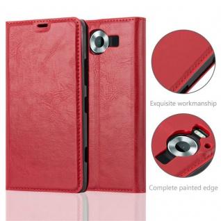 Cadorabo Hülle für Nokia Lumia 950 in APFEL ROT Handyhülle mit Magnetverschluss, Standfunktion und Kartenfach Case Cover Schutzhülle Etui Tasche Book Klapp Style - Vorschau 2