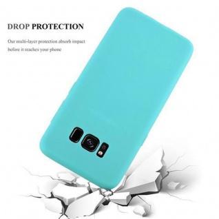 Cadorabo Hülle für Samsung Galaxy S8 in CANDY BLAU - Handyhülle aus flexiblem TPU Silikon - Silikonhülle Schutzhülle Ultra Slim Soft Back Cover Case Bumper - Vorschau 4