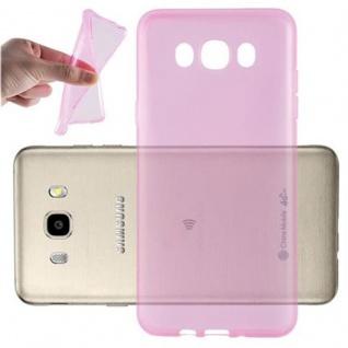 Cadorabo Hülle für Samsung Galaxy J7 2016 in TRANSPARENT PINK - Handyhülle aus flexiblem TPU Silikon - Silikonhülle Schutzhülle Ultra Slim Soft Back Cover Case Bumper