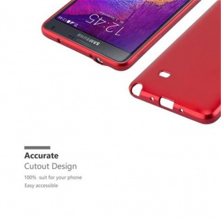 Cadorabo Hülle für Samsung Galaxy NOTE 4 in METALLIC ROT - Handyhülle aus flexiblem TPU Silikon - Silikonhülle Schutzhülle Ultra Slim Soft Back Cover Case Bumper - Vorschau 2