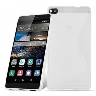 Cadorabo Hülle für Huawei P8 in HALB TRANSPARENT ? Handyhülle aus flexiblem TPU Silikon ? Silikonhülle Schutzhülle Ultra Slim Soft Back Cover Case Bumper