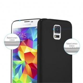 Cadorabo Hülle für Samsung Galaxy S5 / S5 NEO in METALL SCHWARZ - Hardcase Handyhülle aus Plastik gegen Kratzer und Stöße - Schutzhülle Bumper Ultra Slim Back Case Hard Cover - Vorschau 3