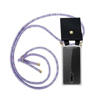 Cadorabo Handy Kette für Nokia 5 2017 in UNICORN Silikon Necklace Umhänge Hülle mit Gold Ringen, Kordel Band Schnur und abnehmbarem Etui Schutzhülle