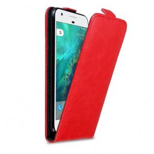 Cadorabo Hülle für Google Pixel in APFEL ROT Handyhülle im Flip Design mit Magnetverschluss Case Cover Schutzhülle Etui Tasche Book Klapp Style