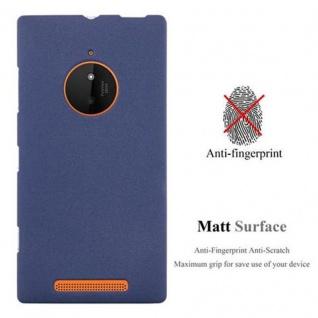 Cadorabo Hülle für Nokia Lumia 830 in FROST DUNKEL BLAU - Handyhülle aus flexiblem TPU Silikon - Silikonhülle Schutzhülle Ultra Slim Soft Back Cover Case Bumper - Vorschau 2