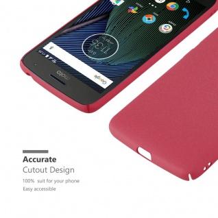 Cadorabo Hülle für Motorola MOTO G5 in FROSTY ROT - Hardcase Handyhülle aus Plastik gegen Kratzer und Stöße - Schutzhülle Bumper Ultra Slim Back Case Hard Cover - Vorschau 5
