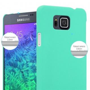 Cadorabo Hülle für Samsung Galaxy ALPHA in FROSTY GRÜN - Hardcase Handyhülle aus Plastik gegen Kratzer und Stöße - Schutzhülle Bumper Ultra Slim Back Case Hard Cover - Vorschau 4