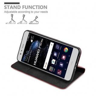 Cadorabo Hülle für Huawei P10 LITE in APFEL ROT Handyhülle mit Magnetverschluss, Standfunktion und Kartenfach Case Cover Schutzhülle Etui Tasche Book Klapp Style - Vorschau 4