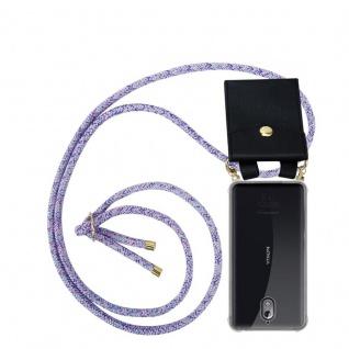 Cadorabo Handy Kette für Nokia 3.1 2018 in UNICORN Silikon Necklace Umhänge Hülle mit Gold Ringen, Kordel Band Schnur und abnehmbarem Etui Schutzhülle