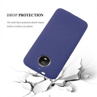 Cadorabo Hülle für Motorola MOTO G5s in FROST DUNKEL BLAU - Handyhülle aus flexiblem TPU Silikon - Silikonhülle Schutzhülle Ultra Slim Soft Back Cover Case Bumper - Vorschau 5