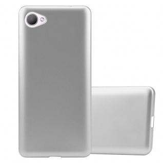 Cadorabo Hülle für HTC Desire 12 in METALLIC SILBER - Handyhülle aus flexiblem TPU Silikon - Silikonhülle Schutzhülle Ultra Slim Soft Back Cover Case Bumper