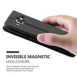 Cadorabo Hülle für Samsung Galaxy J5 2015 in KOMETEN SCHWARZ ? Handyhülle mit Magnetverschluss, Standfunktion und 2 Sichtfenstern ? Case Cover Schutzhülle Etui Tasche Book Klapp Style - Vorschau 5