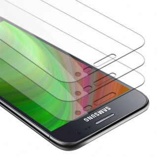 Cadorabo 3x Panzer Folie für Samsung Galaxy J2 - Schutzfolie in KRISTALL KLAR - 3er Pack Gehärtetes (Tempered) Display-Schutzglas in 9H Härte mit 3D Touch Kompatibilität