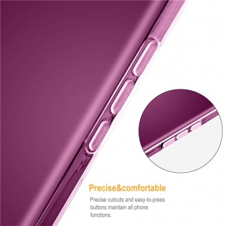 Cadorabo Hülle für Samsung Galaxy J3 2018 in TRANSPARENT PINK - Handyhülle aus flexiblem TPU Silikon - Silikonhülle Schutzhülle Ultra Slim Soft Back Cover Case Bumper - Vorschau 3