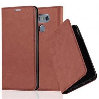 Cadorabo Hülle für LG G6 in CAPPUCCINO BRAUN - Handyhülle mit Magnetverschluss, Standfunktion und Kartenfach - Case Cover Schutzhülle Etui Tasche Book Klapp Style