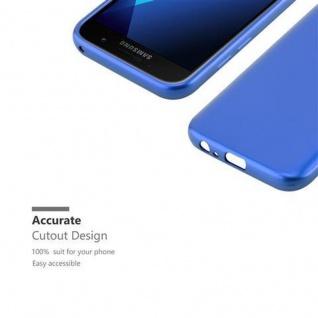 Cadorabo Hülle für Samsung Galaxy A3 2017 in METALLIC BLAU - Handyhülle aus flexiblem TPU Silikon - Silikonhülle Schutzhülle Ultra Slim Soft Back Cover Case Bumper - Vorschau 2