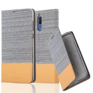 Cadorabo Hülle für Huawei MATE 10 LITE in HELL GRAU BRAUN - Handyhülle mit Magnetverschluss, Standfunktion und Kartenfach - Case Cover Schutzhülle Etui Tasche Book Klapp Style