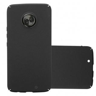 Cadorabo Hülle für Motorola MOTO X4 in FROSTY SCHWARZ - Hardcase Handyhülle aus Plastik gegen Kratzer und Stöße - Schutzhülle Bumper Ultra Slim Back Case Hard Cover