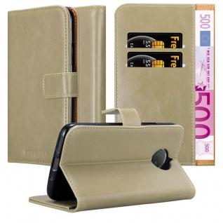 Cadorabo Hülle für Motorola MOTO G5S PLUS in CAPPUCCINO BRAUN ? Handyhülle mit Magnetverschluss, Standfunktion und Kartenfach ? Case Cover Schutzhülle Etui Tasche Book Klapp Style