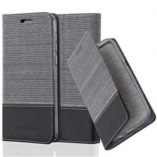 Cadorabo Hülle für Honor 6 in GRAU SCHWARZ - Handyhülle mit Magnetverschluss, Standfunktion und Kartenfach - Case Cover Schutzhülle Etui Tasche Book Klapp Style