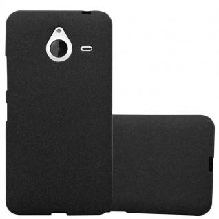 Cadorabo Hülle für Nokia Lumia 640 XL in FROST SCHWARZ - Handyhülle aus flexiblem TPU Silikon - Silikonhülle Schutzhülle Ultra Slim Soft Back Cover Case Bumper