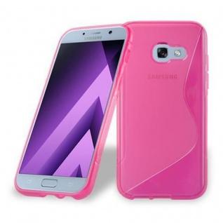 Cadorabo Hülle für Samsung Galaxy A3 2017 in HOT PINK - Handyhülle aus flexiblem TPU Silikon - Silikonhülle Schutzhülle Ultra Slim Soft Back Cover Case Bumper