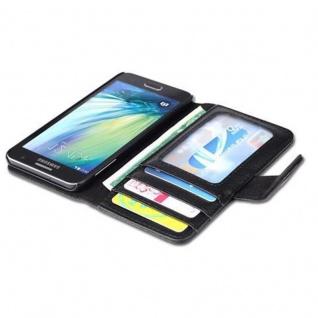 Cadorabo Hülle für Samsung Galaxy A3 2015 in OXID SCHWARZ - Handyhülle mit Magnetverschluss und 3 Kartenfächern - Case Cover Schutzhülle Etui Tasche Book Klapp Style - Vorschau 4