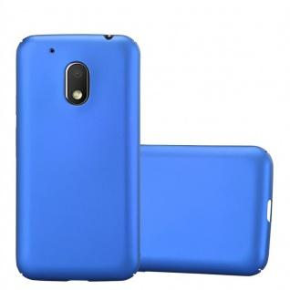 Cadorabo Hülle für Motorola MOTO G4 PLAY in METALL BLAU - Hardcase Handyhülle aus Plastik gegen Kratzer und Stöße - Schutzhülle Bumper Ultra Slim Back Case Hard Cover