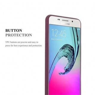 Cadorabo Hülle für Samsung Galaxy A5 2016 in FROST BORDEAUX LILA - Handyhülle aus flexiblem TPU Silikon - Silikonhülle Schutzhülle Ultra Slim Soft Back Cover Case Bumper - Vorschau 5