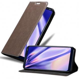 Cadorabo Hülle für Nokia 9 Pure View in KAFFEE BRAUN Handyhülle mit Magnetverschluss, Standfunktion und Kartenfach Case Cover Schutzhülle Etui Tasche Book Klapp Style