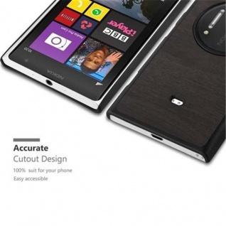 Cadorabo Hülle für Nokia Lumia 1020 in WOODY SCHWARZ - Hardcase Handyhülle aus Plastik gegen Kratzer und Stöße - Schutzhülle Bumper Ultra Slim Back Case Hard Cover - Vorschau 2