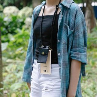 Cadorabo Handy Kette für Samsung Galaxy J7 2015 in SCHWARZ ? Silikon Necklace Umhänge Hülle mit Gold Ringen, Kordel Band Schnur und abnehmbarem Etui ? Schutzhülle - Vorschau 4
