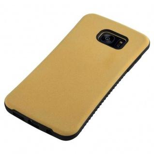 Cadorabo Hülle für Samsung Galaxy S7 EDGE - Hülle in GOLD BRAUN - Small Waist Handyhülle mit rutschfestem Gummi-Rücken - Hard Case TPU Silikon Schutzhülle - Vorschau 5