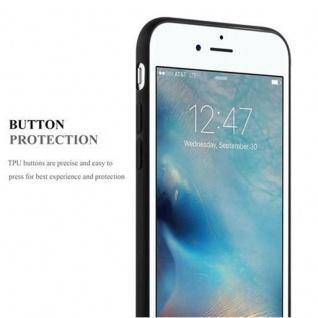 Cadorabo Hülle für Apple iPhone 7 / iPhone 7S / iPhone 8 in CANDY SCHWARZ - Handyhülle aus flexiblem TPU Silikon - Silikonhülle Schutzhülle Ultra Slim Soft Back Cover Case Bumper - Vorschau 4