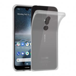 Cadorabo Hülle für Nokia 4.2 in VOLL TRANSPARENT - Handyhülle aus flexiblem TPU Silikon - Silikonhülle Schutzhülle Ultra Slim Soft Back Cover Case Bumper