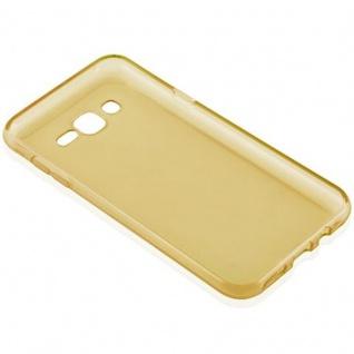 Cadorabo Hülle für Samsung Galaxy J7 2015 in TRANSPARENT GOLD - Handyhülle aus flexiblem TPU Silikon - Silikonhülle Schutzhülle Ultra Slim Soft Back Cover Case Bumper - Vorschau 3