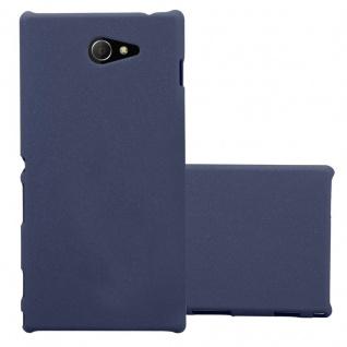 Cadorabo Hülle für Sony Xperia M2 / M2 Aqua in FROSTY BLAU - Hardcase Handyhülle aus Plastik gegen Kratzer und Stöße - Schutzhülle Bumper Ultra Slim Back Case Hard Cover