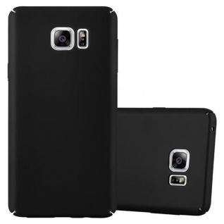 Cadorabo Hülle für Samsung Galaxy NOTE 5 in METALL SCHWARZ - Hardcase Handyhülle aus Plastik gegen Kratzer und Stöße - Schutzhülle Bumper Ultra Slim Back Case Hard Cover