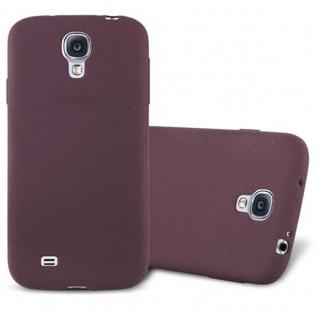 Cadorabo Hülle für Samsung Galaxy S4 in FROST BORDEAUX LILA - Handyhülle aus flexiblem TPU Silikon - Silikonhülle Schutzhülle Ultra Slim Soft Back Cover Case Bumper