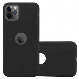 Cadorabo Hülle für Apple iPhone 11 PRO MAX (XI PRO MAX) in CANDY SCHWARZ - Handyhülle aus flexiblem TPU Silikon - Silikonhülle Schutzhülle Ultra Slim Soft Back Cover Case Bumper