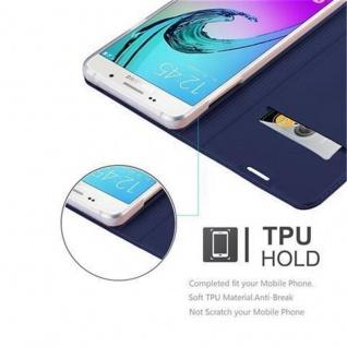Cadorabo Hülle für Samsung Galaxy A3 2016 in CLASSY DUNKEL BLAU - Handyhülle mit Magnetverschluss, Standfunktion und Kartenfach - Case Cover Schutzhülle Etui Tasche Book Klapp Style - Vorschau 2