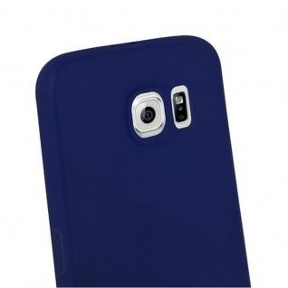 Cadorabo Hülle für Samsung Galaxy S6 in CANDY DUNKEL BLAU - Handyhülle aus flexiblem TPU Silikon - Silikonhülle Schutzhülle Ultra Slim Soft Back Cover Case Bumper - Vorschau 3